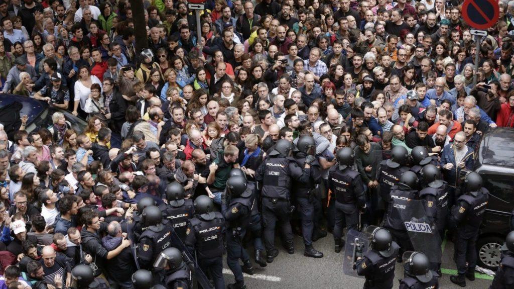 manifestación Barcelona 1-O